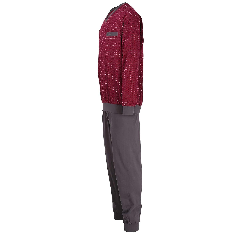8b15654dc3 Götzburg Herren Pyjama, Schlafanzug, Shirt und Hose, Langarm ...