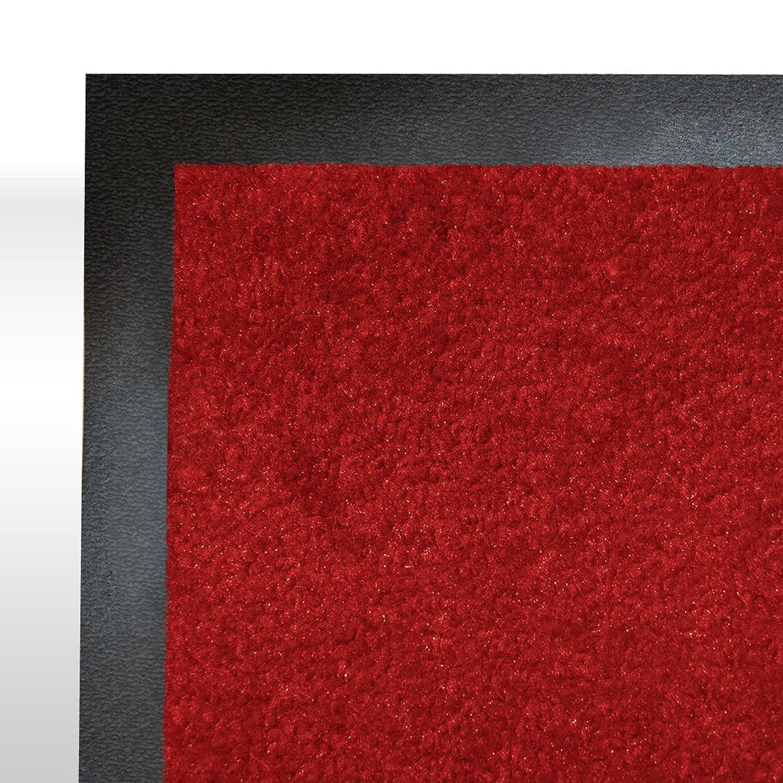 Casa pura® Premium Fußmatte in attraktiver Optik     Schmutzfangmatte in vielen Größen   hellgrau   90x150cm B014PAHW3S Fumatten 3051f8