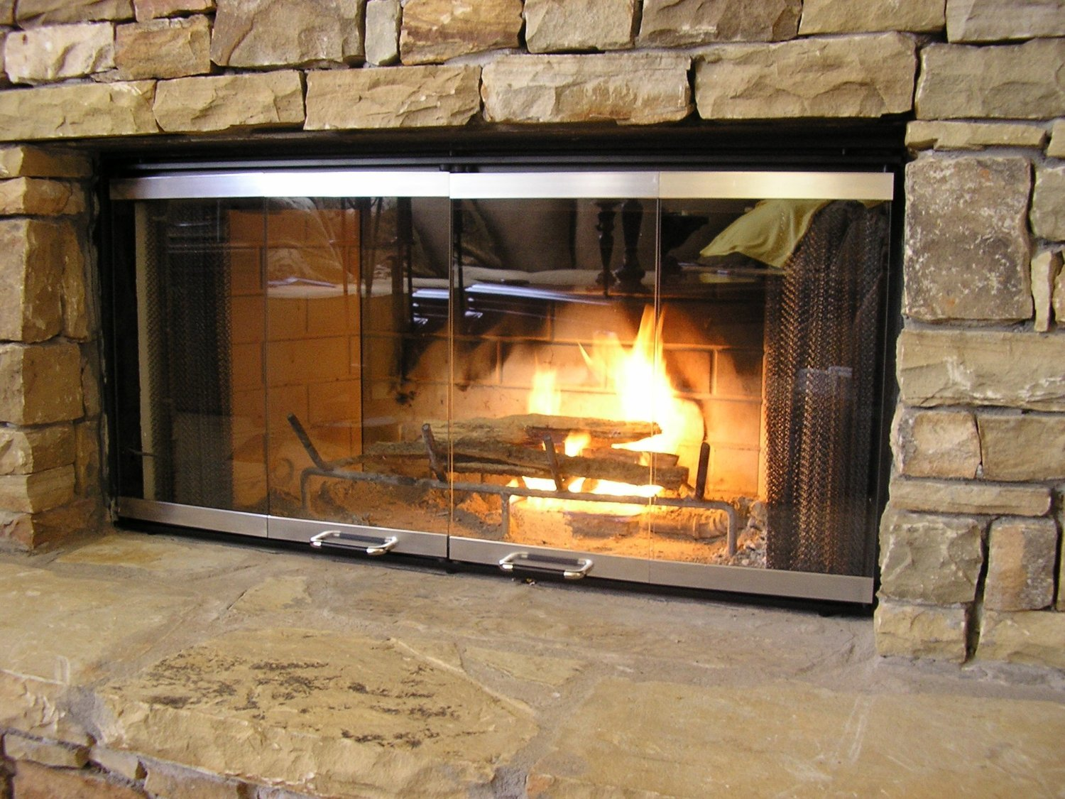 "Buy Heatilator Fireplace Doors - Stainless Steel 36"" Series Glass Doors - DM1036: Fireplace Screens - Amazon.com ? FREE DELIVERY possible on eligible purchases"