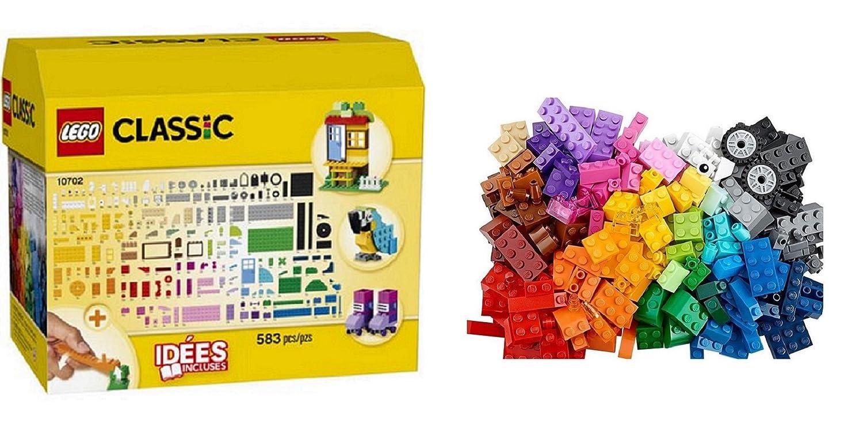 LEGO Creative Building Set - 10702 ● 583 Pcs + Sturdy Reusable Cardboard Box