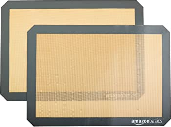AmazonBasics Pack of 2 Non Stick Silicone Baking Mat