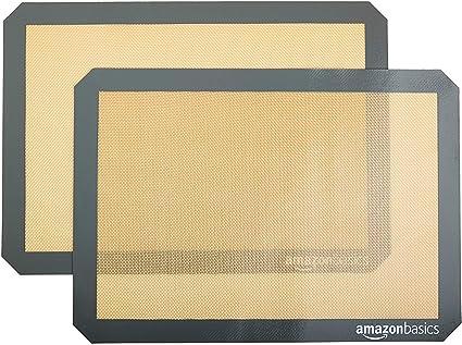 Amazon Basics Lot de 2 tapis de cuisson en silicone
