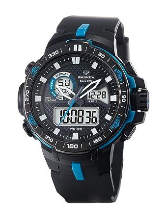48ddcbd78 Teens Boys Girls Sport Analog Digital Dual Time Water Resistant Wrist  Watches Backlight Alarm Stopwatch (