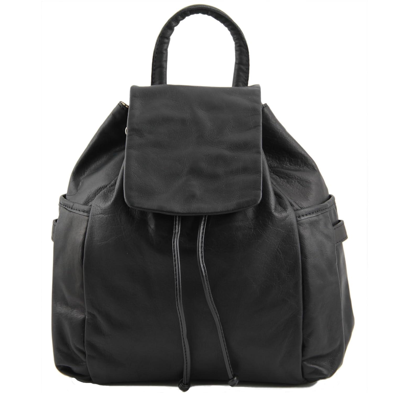 81412024 – TUSCANY LEATHER : Kathmandu Leather Bag/Backpack/Rucksack,ブラック   B00IBNZK4Y