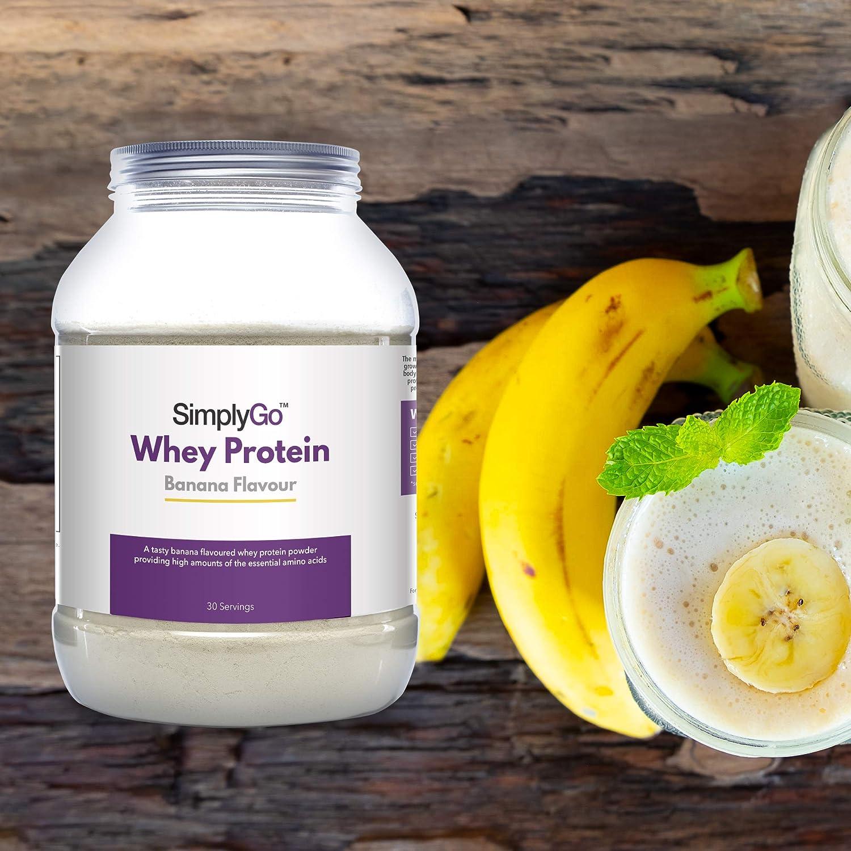 Proteína de Suero de Leche Sabor Plátano - ¡30 Raciones! - Apto ...