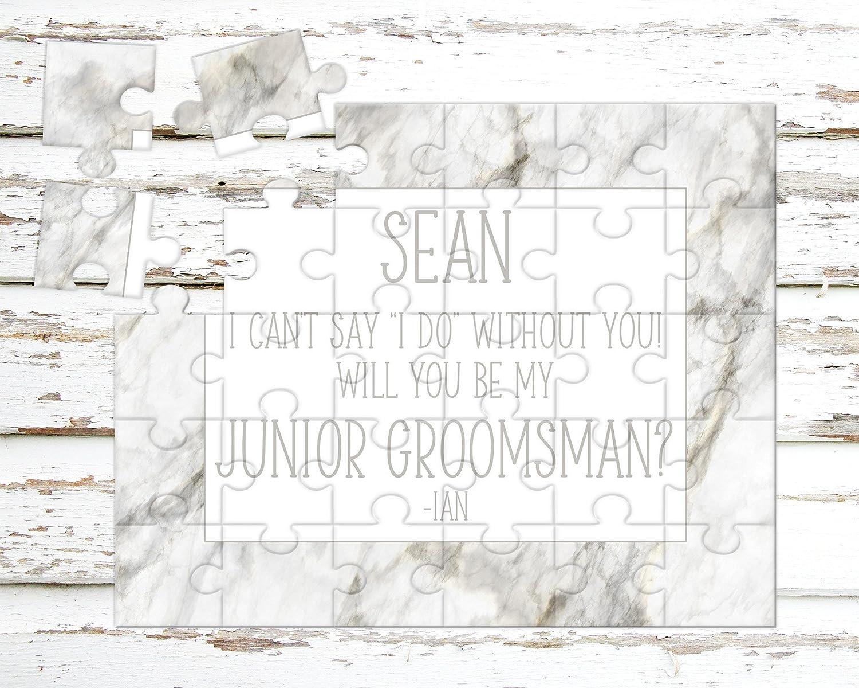 Puzzle Proposal P1201 Asking Junior Groomsman Personalized Junior Groomsman Puzzle Wedding Announcement