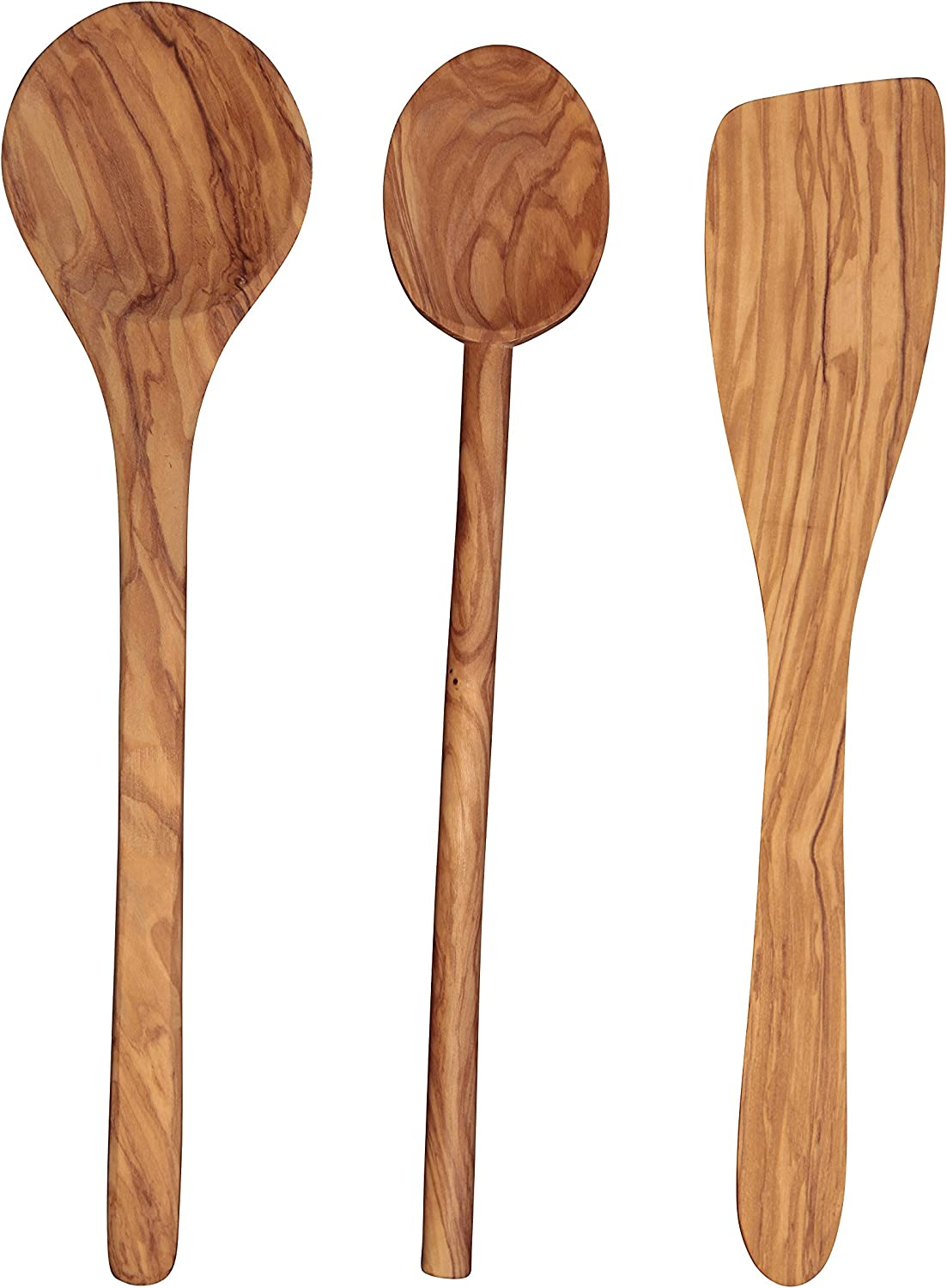 Cooking Spoon 10 inch by Scanwood Scanwood Olive Wood Spoon