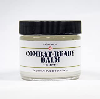 product image for Combat Ready Skin Balm 2oz by Skincando – All Natural - Intensive Moisturizer – Skin Cream - Organic ingredients – Apricot Kernel Oil – Grapefruit Seed Extract – Black Spruce - Black Tea Moisturizer