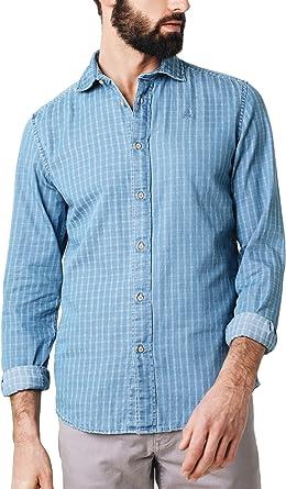 Scalpers Denim K Shirt - Camisa para Hombre, Talla 41, Color Azul: Amazon.es: Ropa y accesorios