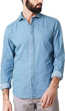 Scalpers Denim K Shirt - Camisa para Hombre, Talla 41, Color ...