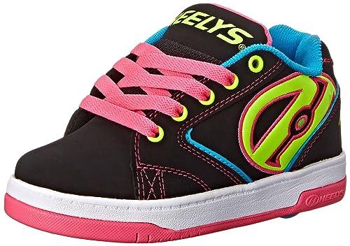 HEELYS Propel 2.0 770291 - Zapatos 1 rueda para niñas, Multicolor (Black/Hot Pink), talla 39