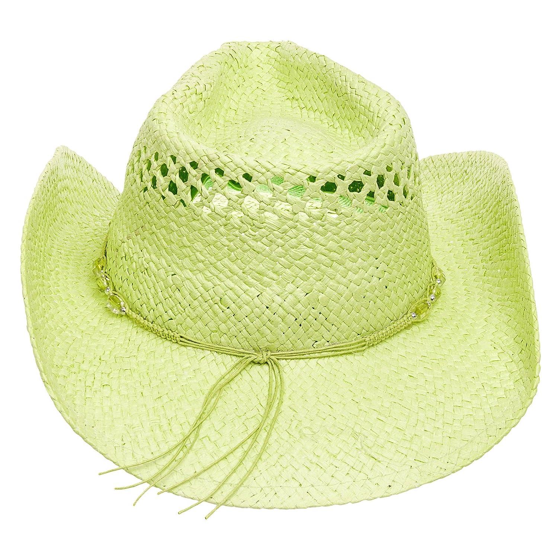 MG Womens Straw Outback Toyo Cowboy Hat