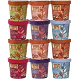 Modern Oats All Natural Premium Oatmeal Cups Variety Pack (Pack of 12) - Flavors May Vary All Flavors are Gluten-Free High in Fiber & Protein Non-GMO
