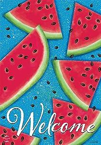 Briarwood Lane Watermelon Welcome Summer Garden Flag 12.5