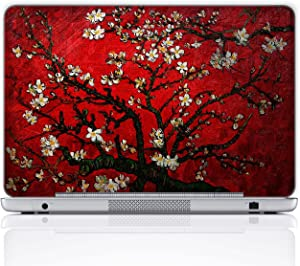 Meffort Inc 15 15.6 Inch Laptop Notebook Skin Sticker Cover Art Decal (Free Wrist pad) - Van Gogh Cherry Blossom