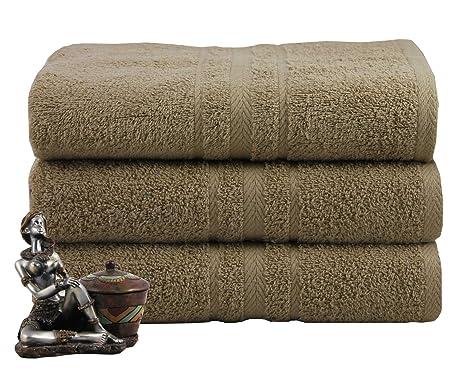 Real egipcio peinado 3 Pack toallas de baño o toalla de mano 550 ...