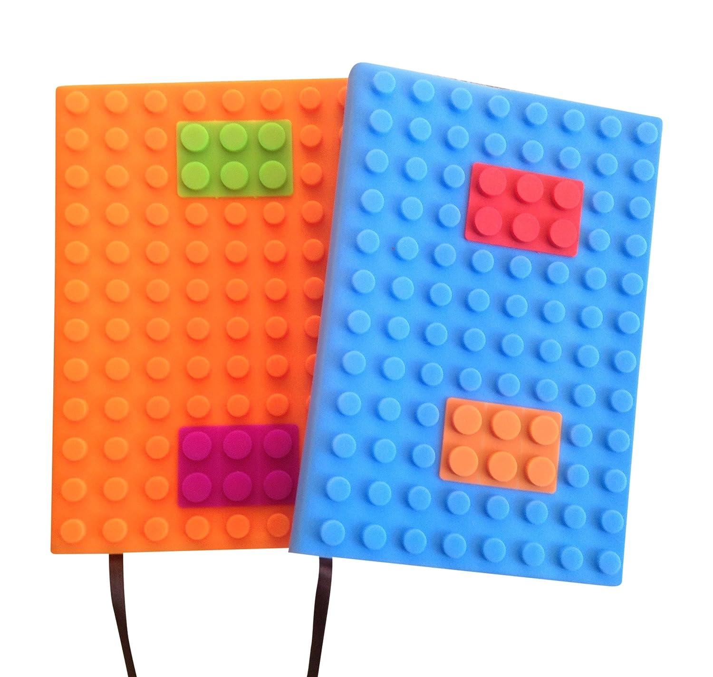 Bloc-notes rechargeable de format A5à couverture souple | Utilisation au bureau | Bloc-notes pour enfants; 100pages de papier ligné de 20,32 x 15,24 cm (2 lots A5)
