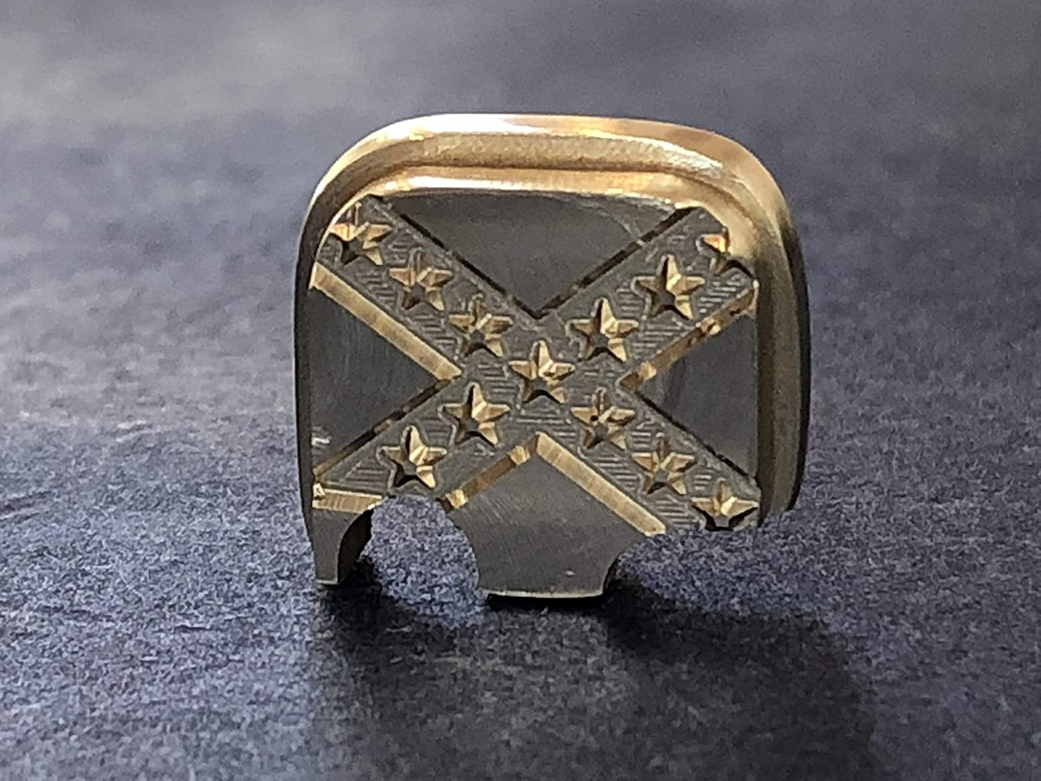 Fit Glock 43 ONLY Rear Slide Cover Plate 100/% Brass 3D Eagle