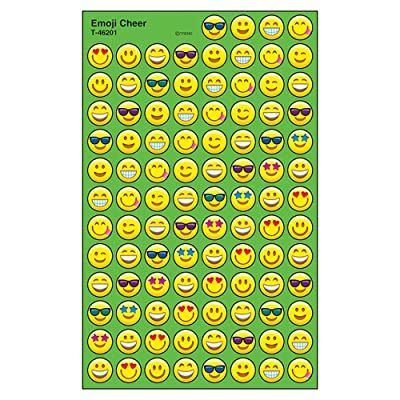 Trend Enterprises Inc. Emoji Cheer superSpots Stickers, 800 ct: Toys & Games