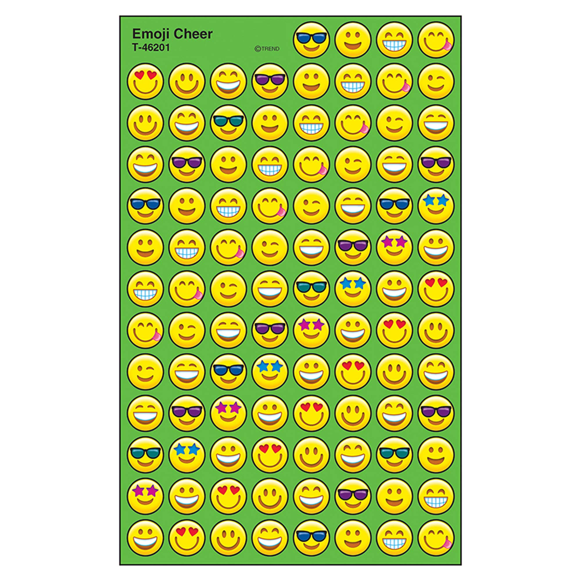 Trend Enterprises Inc. Emoji Cheer superSpots Stickers, 800 ct