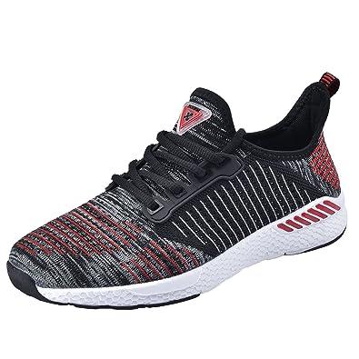 833615ce658 NEOKER Chaussures Homme Femme Baskets Running Shoes Sport Sneakers Fitness  Respirant Légère Noir 41