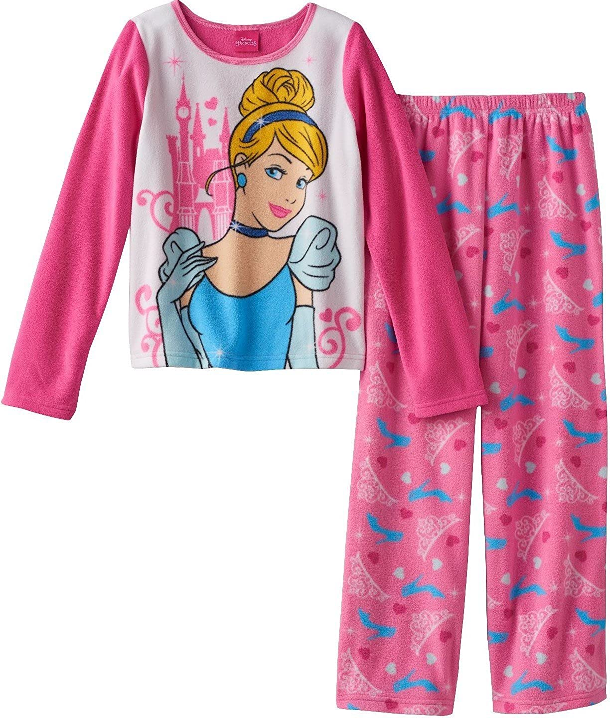 Size Medium Blue Disney Women/'s Cinderella Pajama Sweatshirt