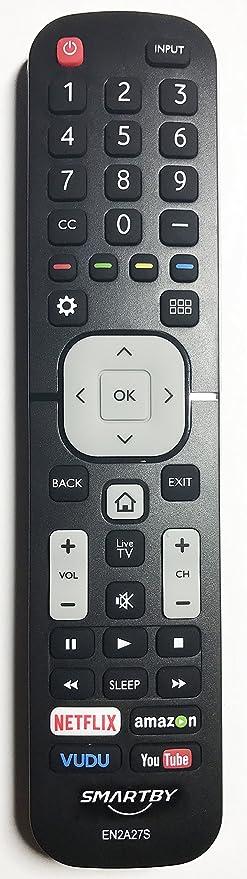 Smartby EN2A27S TV Remote Control for Sharp 4K Ultra LED Smart HDTV 55H6B,  50H7GB, 50H6B, N6200U,