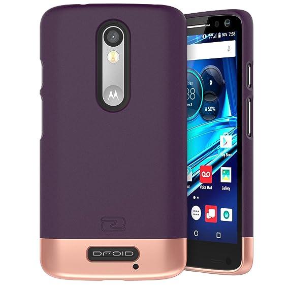 new products 898fd 83797 Encased Motorola Droid Turbo 2 Case, (SlimSHIELD Edition) Ultra Slim Cover  (Full Coverage) Hybrid Slider Shell (Royal Purple)