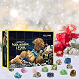 Becoler 24 Pcs Colorful Stone for Advent Calendar 2020, Christmas Countdown DIY Rocks Storage Gift Box Pendants, Xmas…