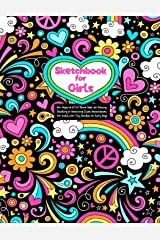 "Sketchbook for Girls: 100+ Pages of 8.5""x11"" Blank Paper for Drawing, Doodling or Sketching (Cute Sketchbooks For Kids) With Tiny Doodles On Every Page Paperback"