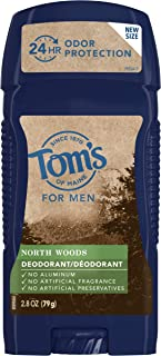 product image for Tom's of Maine Men's Long Lasting Wide Stick Deodorant, for Men, Natural Deodorant, North Woods 2.8 Oz, 1Count