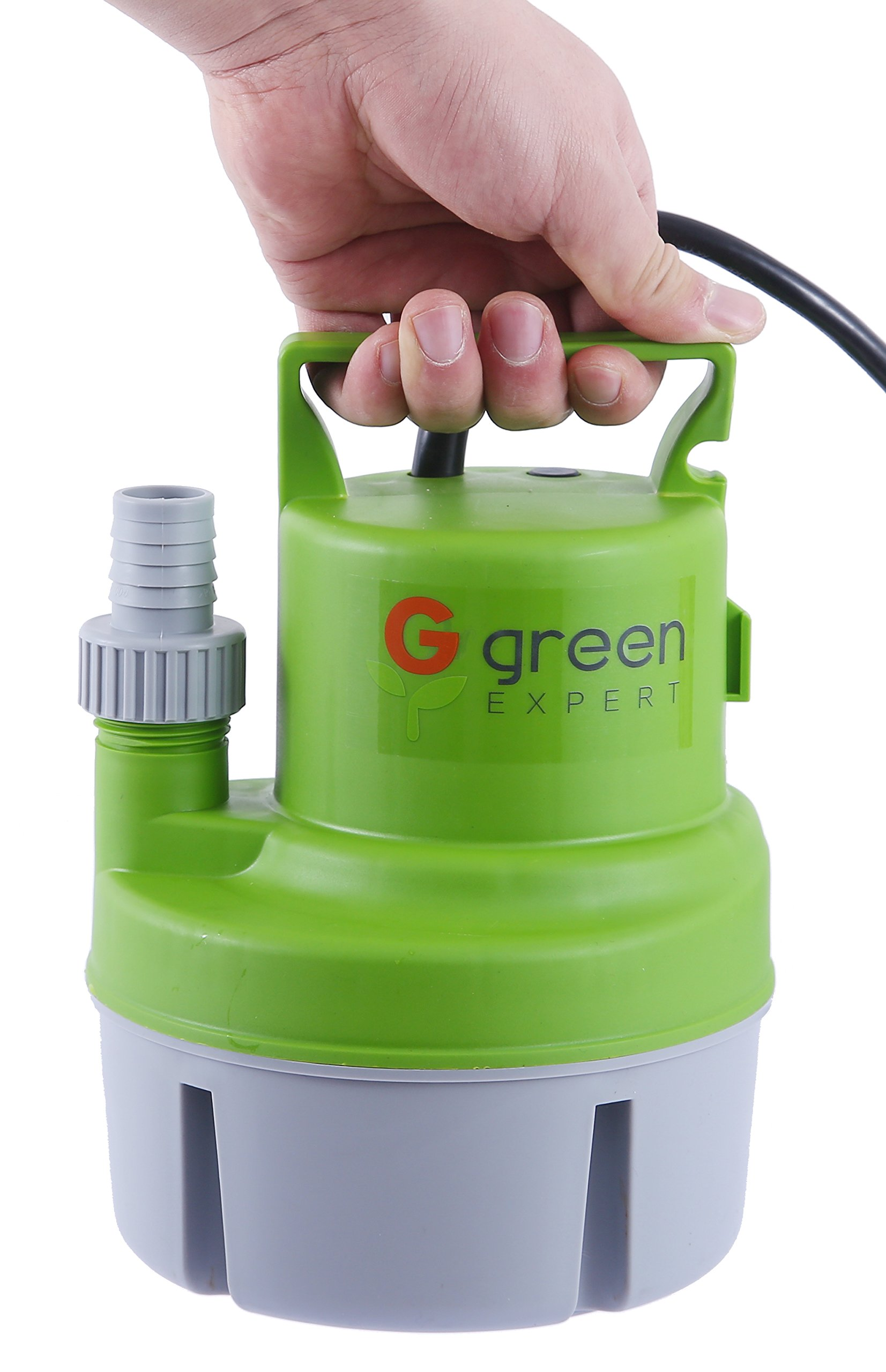 Green Expert 203617 1/6 HP Portable Submersible Utility Pump with 1056 GPH Flow Efficiently for Water Removal Basement Flood Drainage Pump with 3/4'' Adaptor Available for Standard Garden hose by G green EXPERT (Image #4)