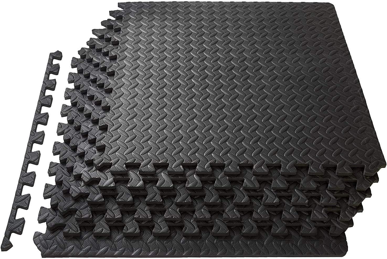 Lsooyys - Alfombra de protección de suelo 12/16/48 baldosas de espuma para gimnasio, garaje, aislamiento contra golpes, ruido, rayaduras