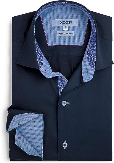 Xoos Paris - Camiseta de manga larga para hombre, cuello ...