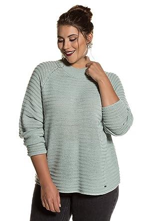 ca36f555211b31 Studio Untold Women's Plus Size Ribbed Lightweight Turtleneck Sweater Light  Gray Mint 12/14 713344
