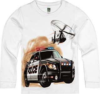 product image for Shirts That Go Little Boys' Long Sleeve Police Car and Helicopter T-Shirt