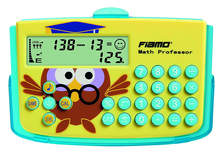 la base matematico faehigkeiten praticare vogliono Calcolatrice e educativo sussidi didattici Fiamo Math Professor per tutti Giallo