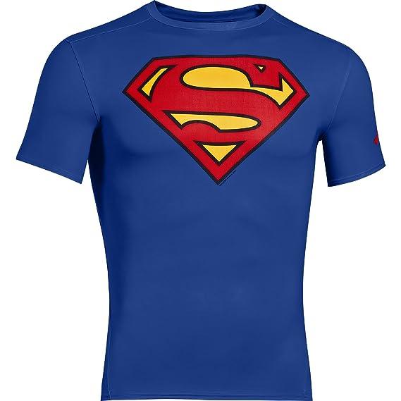 Debajo de la armadura Alter Ego camisa de compresión de manga corta Superman camiseta y mallas térmicas para: Amazon.es: Ropa y accesorios