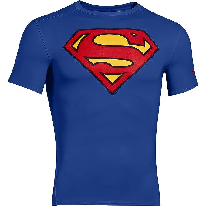 a8ca7b8cf99 Debajo de la armadura Alter Ego camisa de compresión de manga corta  Superman camiseta y mallas térmicas para  Amazon.es  Ropa y accesorios