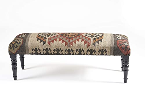 LR Home Southwestern Indoor Bench, 3 11 X 1 4 , Multi