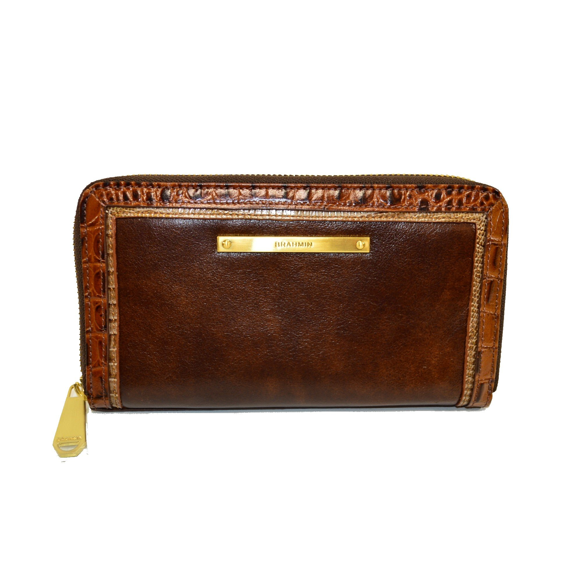 Brahmin Suri Zip Clutch Wallet Brown Concerto Leather G37 1096