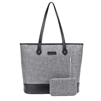 6af2180fa67 UtoteBag Women 15.6 Inch Laptop Tote Bag Notebook Shoulder Bag Lightweight  Multi-Pocket Nylon Business Work Office Briefcase for ...