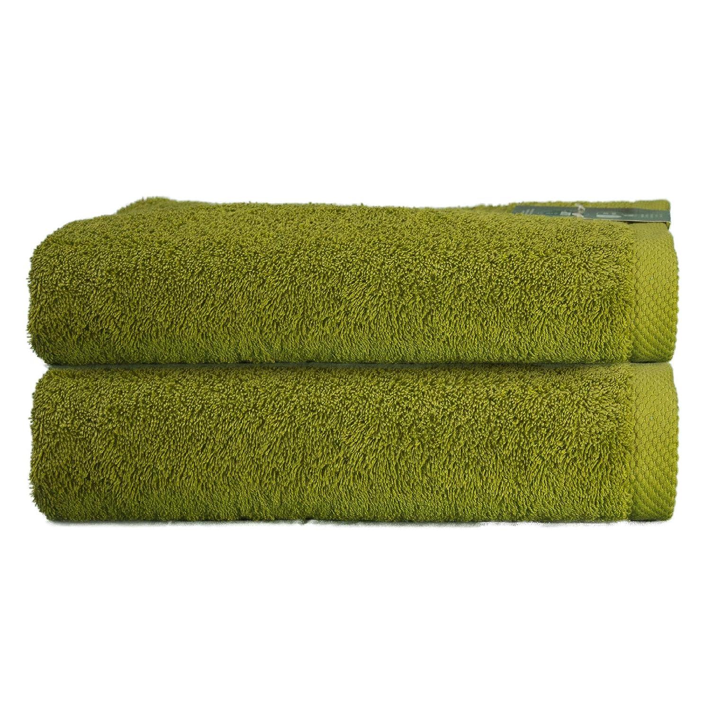 ADP Home - Pack Toallas 550 Grms 2 Piezas (Toalla Ducha/Baño) 100% Algodón Peinado Color - Verde oliva Talla - 70 x 140 cm: Amazon.es: Hogar
