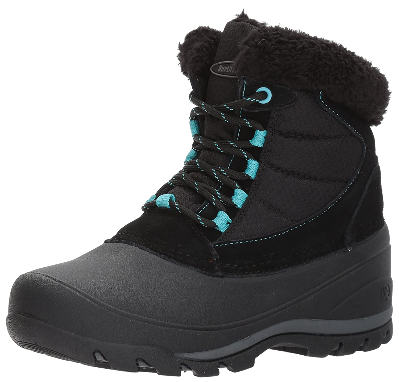 Northside Women's Fairmont II Snow Boot B01MUFTTOW 9 B(M) US|Black/Aqua