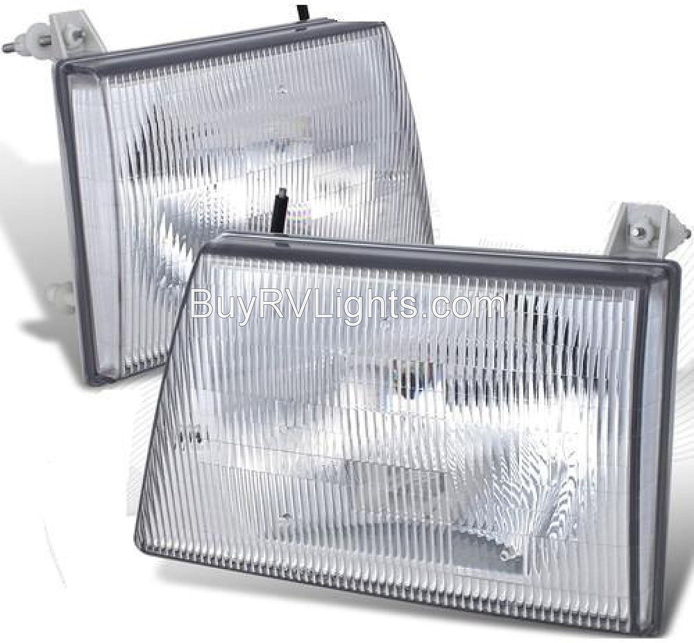 Damon Challenger 1994-1997 RV Motorhome 4 Piece Set Left /& Right Replacement Front Headlights /& Signal Lights