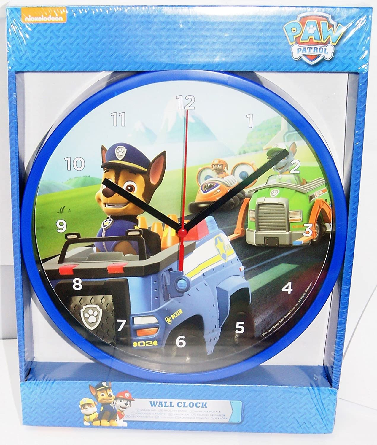 Children Wall Clock,Paw Patrol Wall Clock,Official Licensed Product Paw Patrol co