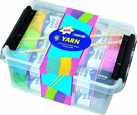 Playbox - Kit de Agujas y Lana para Tejer (en Caja): Amazon.es: Hogar