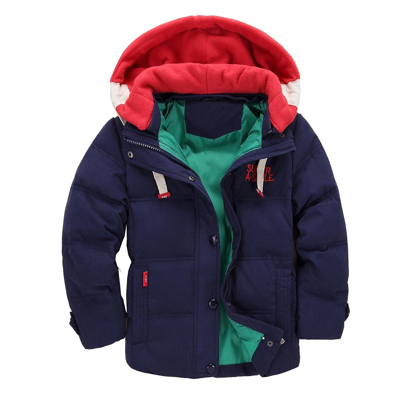 Cystyle Winterjacke für Kinder Jungen Mädchen verdickte Daunenjacken Mantel Trenchcoat Outerwear mit Kapuzen DE-914-MF02