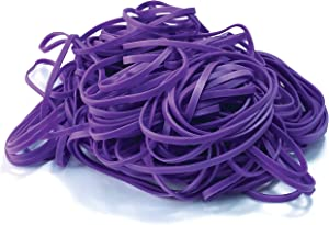 200 Purple Rubber Bands, by Better Office Products, Size 33, 200/Bag, Vibrant Purple Rubber Bands