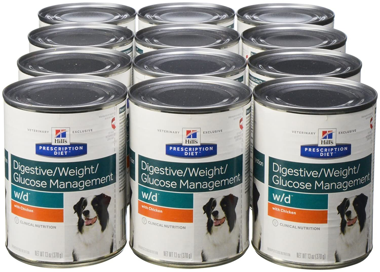 Hills Prescription Diet W/D Canine Alimento húmedo para el Control del Peso 12 latas de 370 gr.: Amazon.es: Productos para mascotas